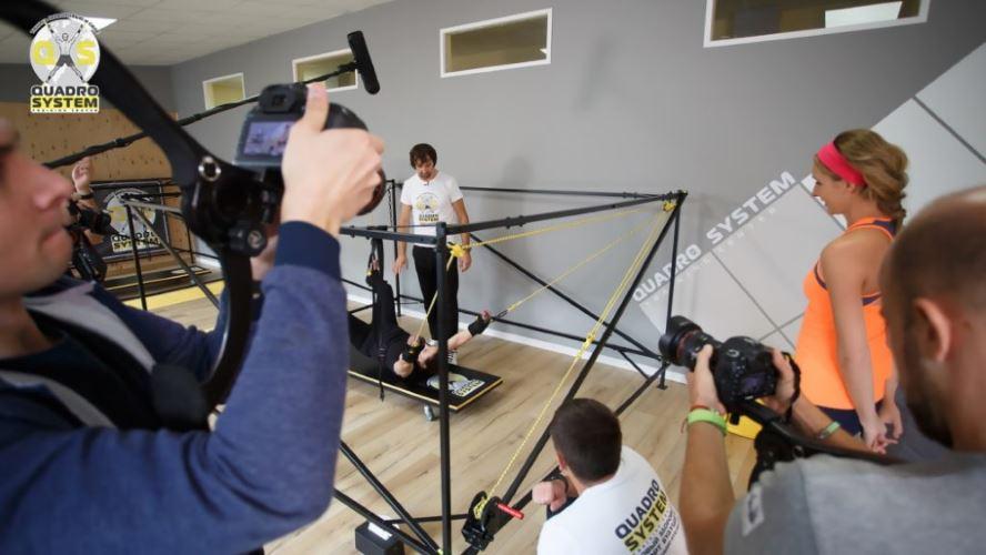 Фото: съемки занятий Нины Матвиенко в Квадро Центре для программы Светская жизнь