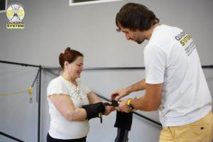 Фото: Нина Матвиенко делает гимнастику по системе Quadro System